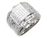 Men's Diamond Ring 14K White Gold 3.90 cts. A24-R0753