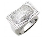 Men's Diamond Ring 14K White Gold 4.30 cts. A24-R0756