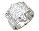 Men's Diamond Ring 14K White Gold 3.25 cts. A24-R0758