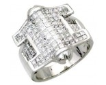 Men's Diamond Ring 14K White Gold 3.80cts. A24-R0759
