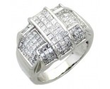 Men's Diamond Ring 14K White Gold 3.65 cts. A26-R0781