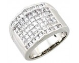 Men's Diamond Ring 14K White Gold 2.00 cts. A26-R687