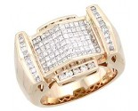 Men's Diamond Ring 14K Rose Gold 2.00 cts. A28-R0004