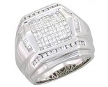 Men's Diamond Ring 14K White Gold 2.30 cts. A28-R0006