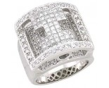 Men's Diamond Ring 14K White Gold 2.75 cts. A28-R0252