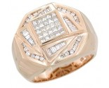 Men's Diamond Ring 14K Rose Gold 1.35 cts. A28-R0254