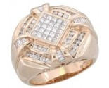 Men's Diamond Ring 14K Rose Gold 1.65 cts. A28-R0255