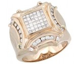 Men's Diamond Ring 14K Rose Gold 1.50 cts. A28-R0256