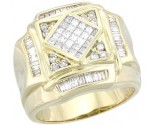 Men's Diamond Ring 14K Yellow Gold 1.28 cts. A28-R0258