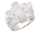 Men's Diamond Ring 14K White Gold 2.25 cts. A28-R0288