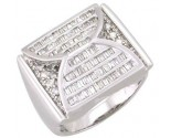 Men's Diamond Ring 14K White Gold 1.75 cts. A28-R0297
