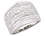 Men's Diamond Ring 14K White Gold 3.00 cts. A28-R0318
