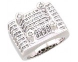 Men's Diamond Ring 14K White Gold 3.00 cts. A28-R0346