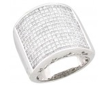 Men's Diamond Ring 14K White Gold 4.00 cts. A28-R0711