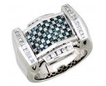 Men's Diamond Ring 14K White Gold 2.10 cts. A30-R0004-WB