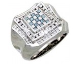 Men's Diamond Ring 14K White Gold 1.50cts. A30-R0203-WB