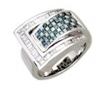 Men's Diamond Ring 14K White Gold 1.75cts. A30-R0208-WB