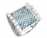 Men's Diamond Ring 14K White Gold 3.75 cts. A30-R0214-WB