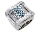 Men's Diamond Ring 14K White Gold 2.40cts. A30-R0250-WB