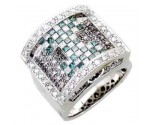 Men's Diamond Ring 14K White Gold 2.75cts. A30-R0252-WB
