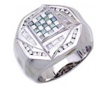 Men's Diamond Ring 14K White Gold 1.40cts. A30-R0254-WB