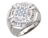 Men's Diamond Ring 14K White Gold 1.65cts. A30-R0255-WB