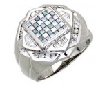 Men's Diamond Ring 14K White Gold 1.80cts. A30-R0257-WB