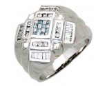 Men's Diamond Ring 14K White Gold 1.00cts. A30-R0261-WB