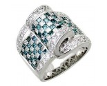 Men's Diamond Ring 14K White Gold 4.75cts. A30-R0320-WB
