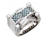 Men's Diamond Ring 14K White Gold 1.50cts. A30-R0549-WB