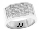 Men's Diamond Ring 18K White Gold 2.78 cts. 6JPJ70524