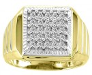 Men's Diamond Ring 10K Yellow Gold 0.50 cts. CL-13053