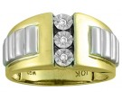Men's Diamond Ring 10K Yellow Gold 0.06 cts. CL-16397