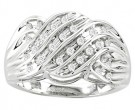 Men's Diamond Ring 10K White Gold 0.25 cts. CL-16847