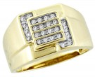 Men's Diamond Ring 10K Yellow Gold 0.25 cts. CL-18127