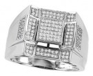 Men's Diamond Ring 10K White Gold 0.38 cts. CL-26735