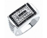 Men's Diamond Ring 10K White Gold 0.50 cts. CL-27909