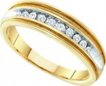 Men's Diamond Ring 10K Yellow Gold 0.25 cts. GD-10170