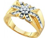 Men's Diamond Ring 10K Yellow Gold 0.50 cts. GD-10219