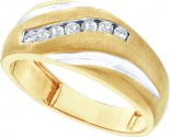 Men's Diamond Ring 10K Yellow Gold 0.25 cts. GD-11062