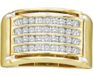 Men's Diamond Ring 10K Yellow Gold 0.50 cts. GD-11219