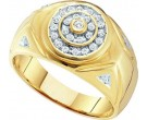 Men's Diamond Ring 10K Yellow Gold 0.25 cts. GD-11731