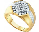 Men's Diamond Cluster Ring 10K Yellow Gold 0.50 cts. GD-13119