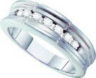 Men's Diamond Ring 14K White Gold 0.50 cts. GD-14007