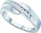 Men's Diamond Ring 14K White Gold 0.25 cts. GD-14872