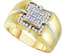 Men's Diamond Cluster Ring 10K Yellow Gold 0.27 cts. GD-15016