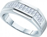 Men's Diamond Ring 14K White Gold 1.00 ct. GD-15129