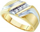 Men's Diamond Ring 10K Yellow Gold 0.10 cts. GD-15681