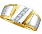 Men's Diamond Ring 10K Two Tone Gold GD-18166