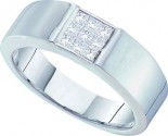 Men's Diamond Ring 14K White Gold 0.50 cts. GD-18479